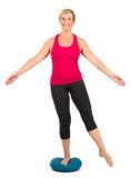Donna di medio evo sul cuscino propriocettivo Immagini Stock