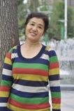 Donna di mezza età cinese Fotografie Stock Libere da Diritti