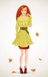 Donna di modo di autunno Fotografia Stock Libera da Diritti