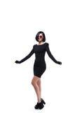 Donna di modo in occhiali da sole rossi Fotografia Stock Libera da Diritti
