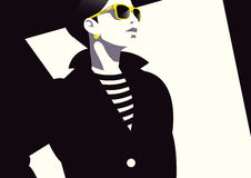 Donna di modo in Pop art di stile Fotografia Stock Libera da Diritti