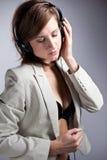 Donna di musica Fotografia Stock Libera da Diritti