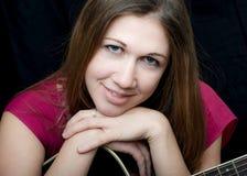 Donna di musica Fotografie Stock