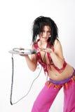 Donna di musica Fotografia Stock