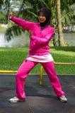 Donna di Muslimah di sport Fotografia Stock Libera da Diritti