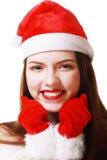 Donna di Natale Fotografie Stock