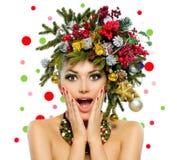 Donna di Natale fotografia stock libera da diritti
