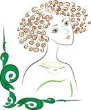 Donna di Nouveau di arte illustrazione vettoriale