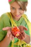 Donna di Pasqua fotografia stock libera da diritti