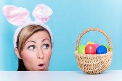 Donna di Pasqua immagini stock libere da diritti