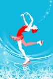 Donna di pattinaggio artistico - colore blu royalty illustrazione gratis