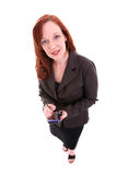 Donna di PDA fotografia stock libera da diritti