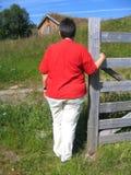 Donna di peso eccessivo Fotografia Stock
