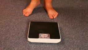 Donna di peso eccessivo video d archivio