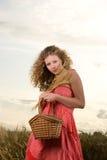 Donna di picnic Fotografia Stock