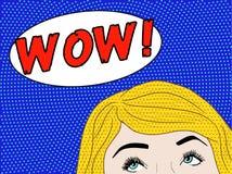 Donna di Pop art wow Immagini Stock