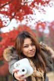 Donna di Portait sull'isola di Nami in Corea fotografia stock