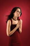 Donna di preghiera. fotografia stock libera da diritti