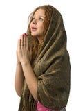 Donna di preghiera Immagini Stock Libere da Diritti