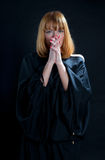 Donna di preghiera religiosa Fotografia Stock Libera da Diritti