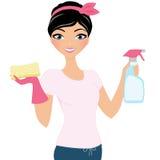 Donna di pulizia illustrazione di stock