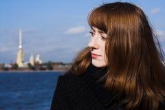 Donna di Redhead Fotografie Stock