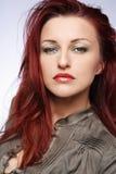 Donna di Redhead. immagine stock