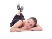 Donna di riposo di forma fisica Fotografia Stock