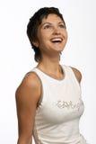 Donna di risata Fotografie Stock Libere da Diritti
