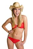 Donna di risata del bikini fotografie stock libere da diritti