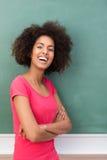 Donna di risata dell'afroamericano Immagini Stock Libere da Diritti