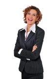 Donna di risata di affari Fotografia Stock