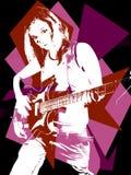 Donna di rock-and-roll Fotografia Stock Libera da Diritti