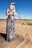 Donna di safari fotografie stock
