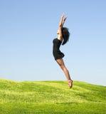 donna di salto Immagine Stock