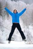 Donna di salto Fotografia Stock