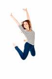 Donna di salto Fotografie Stock Libere da Diritti