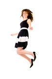 Donna di salto Immagini Stock Libere da Diritti