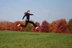 Donna di salto Fotografie Stock
