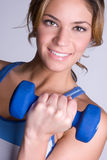 Donna di salute di forma fisica Fotografia Stock Libera da Diritti