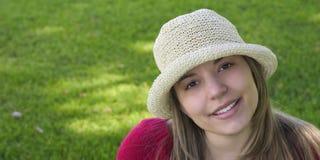 Donna di sorriso Immagini Stock Libere da Diritti