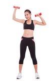 Donna di sport che fa esercitazione fotografie stock