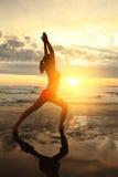 Donna di sport di yoga Fotografia Stock