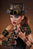 Donna di Steampunk Modo di fantasia Immagine Stock Libera da Diritti