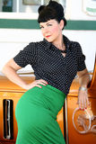 Donna di stile di Pinup immagini stock libere da diritti