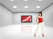 Donna di tecnologia Fotografia Stock