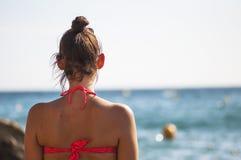 Donna di vacanza di viaggio immagini stock libere da diritti