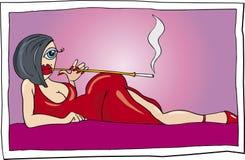 Donna di Vamp Immagini Stock