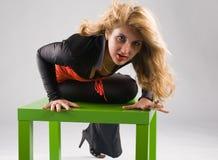Donna di Vamp Fotografie Stock