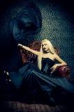 Donna di Vamp Immagine Stock